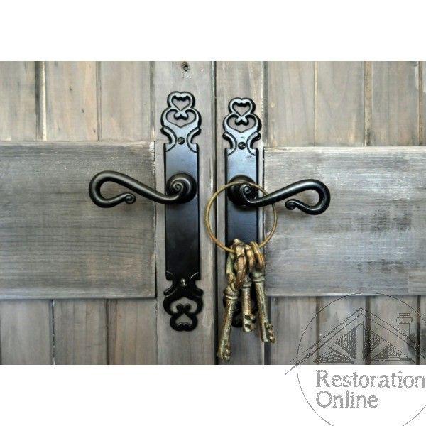 Black Iron Door Handle Australia http://www.restorationonline.com.au/matt-black-iron-strasbourg-door-handle-range