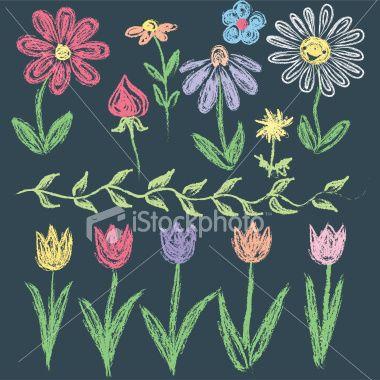 chalkboard flowers - Google Search