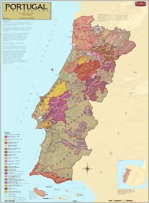 Map of wine country in Portugal by OMNI Resources
