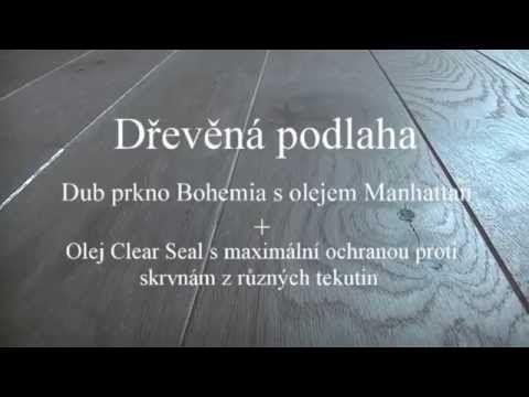 Dub Bohemia prkno s povrchem Manhattan olej + Clear Seal