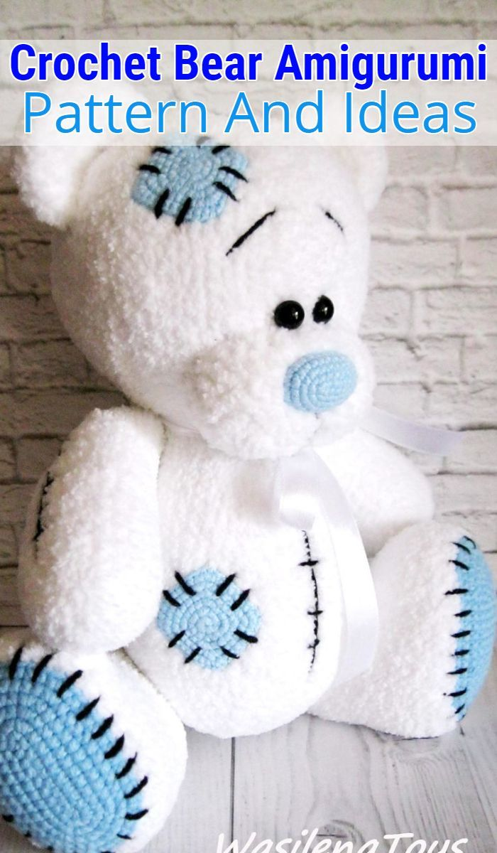 Crochet Teddy Bear Pattern | Crochet teddy bear pattern, Crochet ... | 1200x700