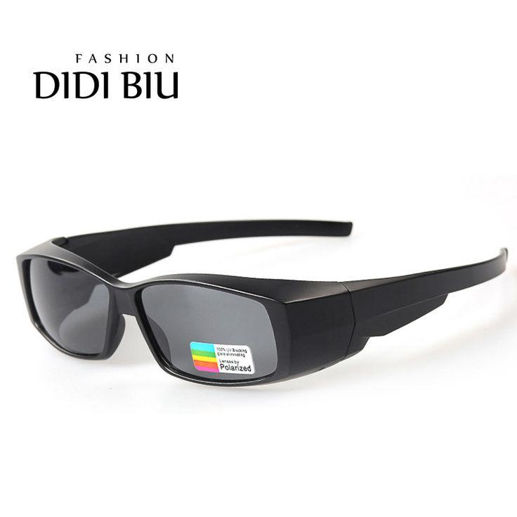 DIDI Polarized Fit Over Optical Glasses Sunglasses Men Myopia Rectangle Cover Sun Glasses Women Luxury Brand Eyewear Gafas H292
