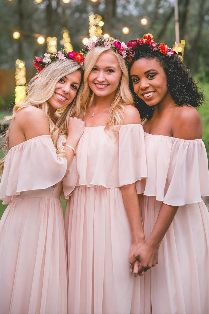 Amazing chiffon bridesmaid dresses em wedding pinterest