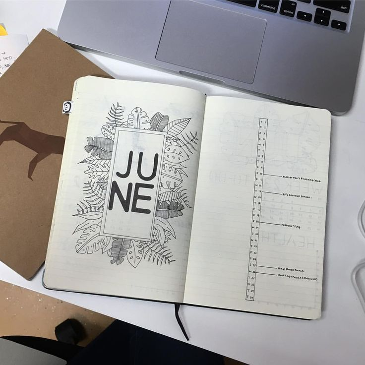 """96 Likes, 6 Comments - mel (@iammel.c) on Instagram: """"Why hello June. When did you sneak up on us? June's welcome page totally inspired by @junjournals…"""""""