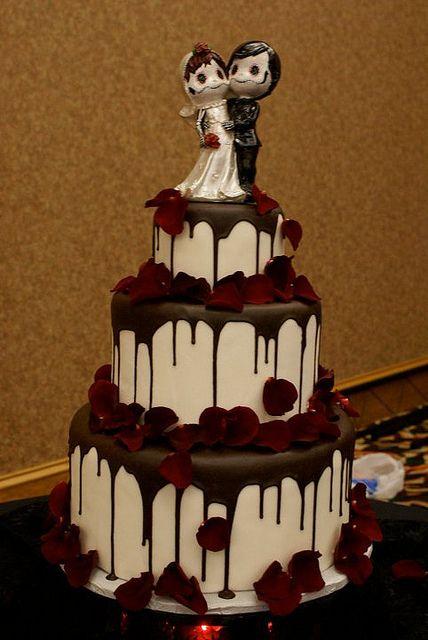 dripping skull cake