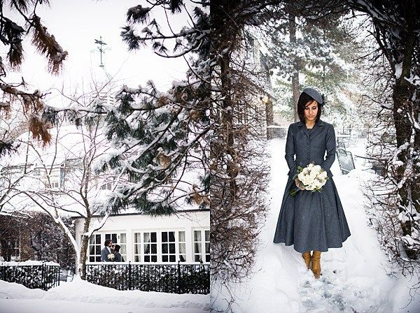 Snowy Canadian Wedding by Calla Evans PhotographyVintage Winter, Bridesmaid Dresses, Brides Dresses, The Dresses, Winter Weddings, Coats, Winter Brides, Vintage Style, Winter Dresses