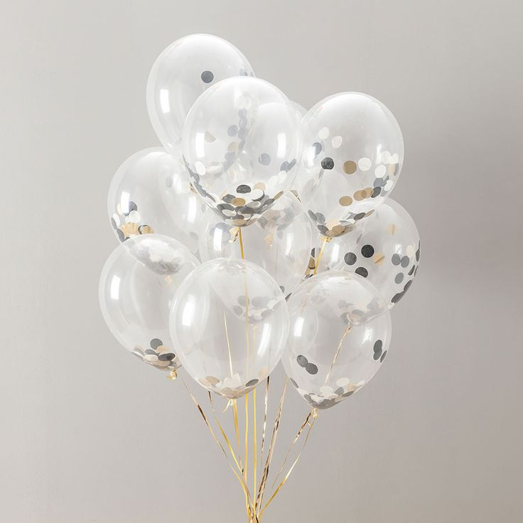 These glamorous glitz and glam confetti balloons are sent out in a pack of fourteen ready to decorate any party or event.