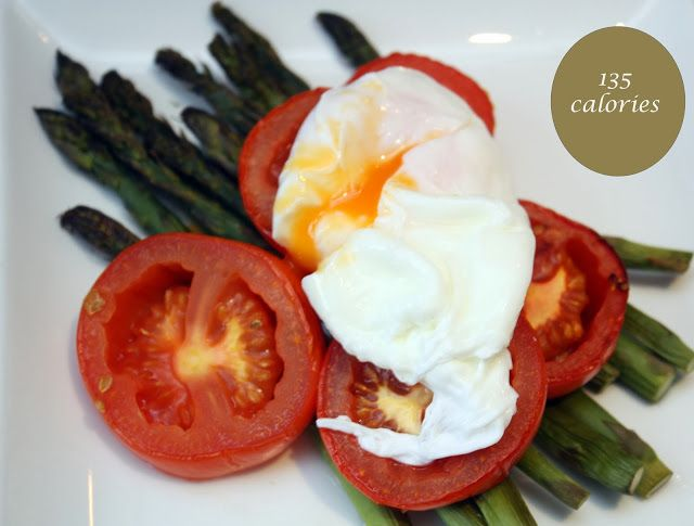 "Eggs and asparagus are my favorite 5:2 diet ""fast day"" combo - how did I never think to add tomato?"