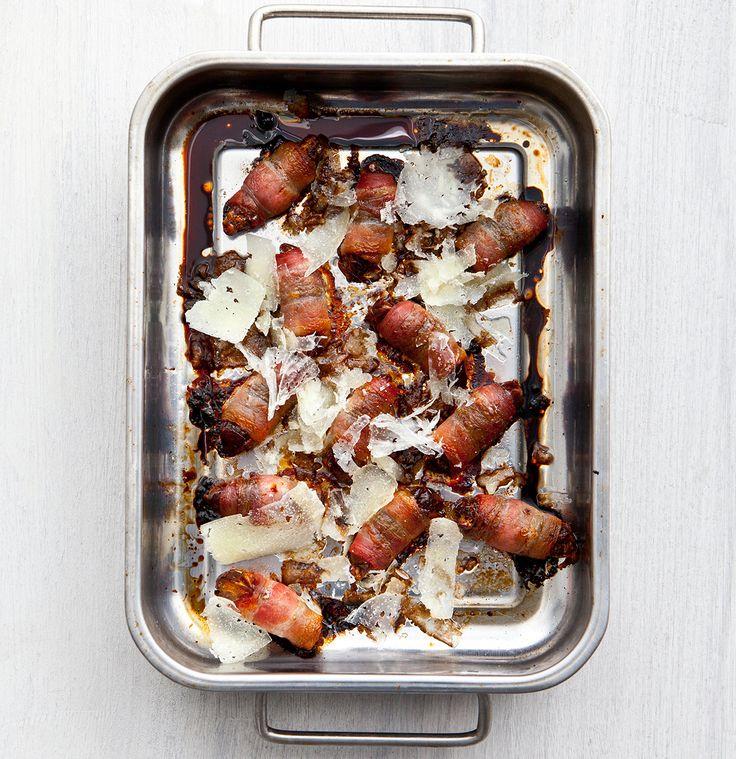 Bacondadlar med manchegoost och balsamvinäger | Mat & Vänner