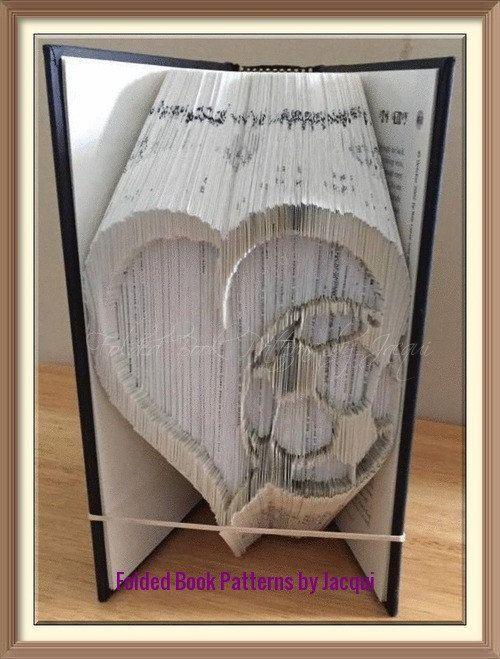 Soccer Football Heart Book Folding Pattern