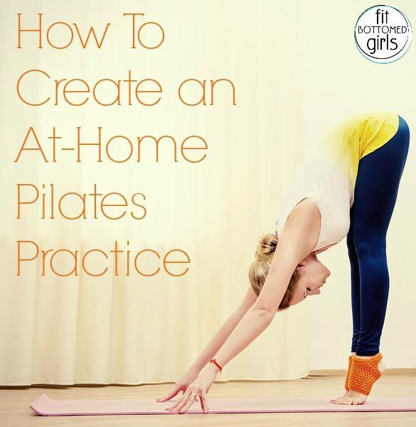 Essentials for starting a home Pilates practice! A great fitness workout that's a step up from yoga and will get you in shape for life and taking on the world!  | Fit Bottomed Girls