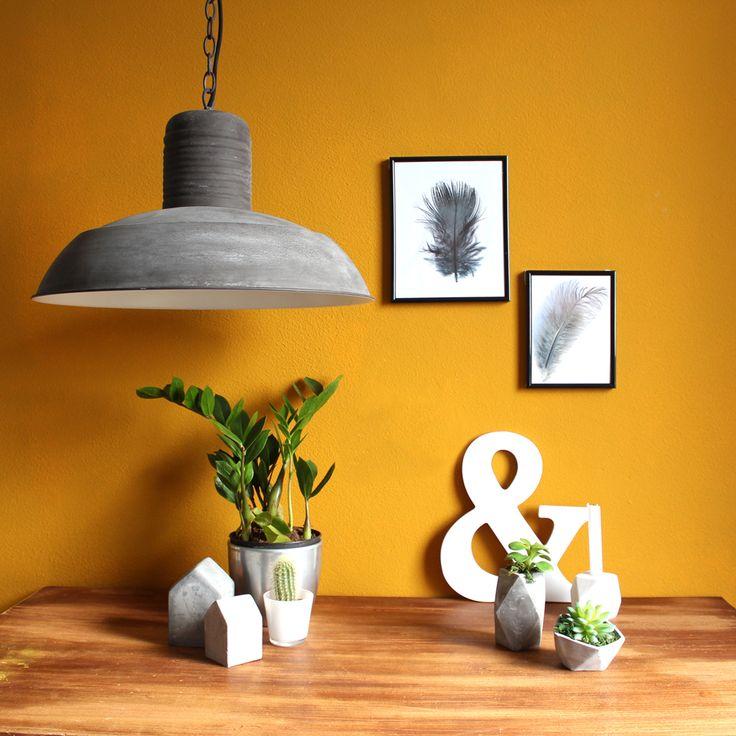 Landelijk hanglampje Alex bruin ø50 cm - Landelijke lampen