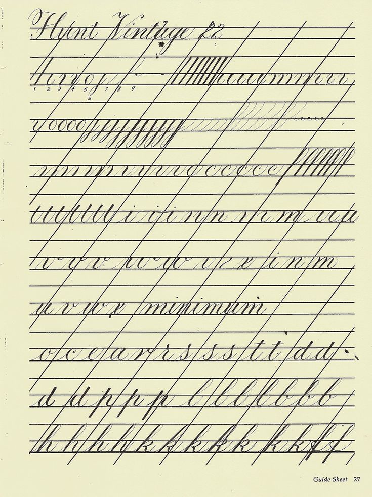 Copperplate Handwriting & English Roundhand
