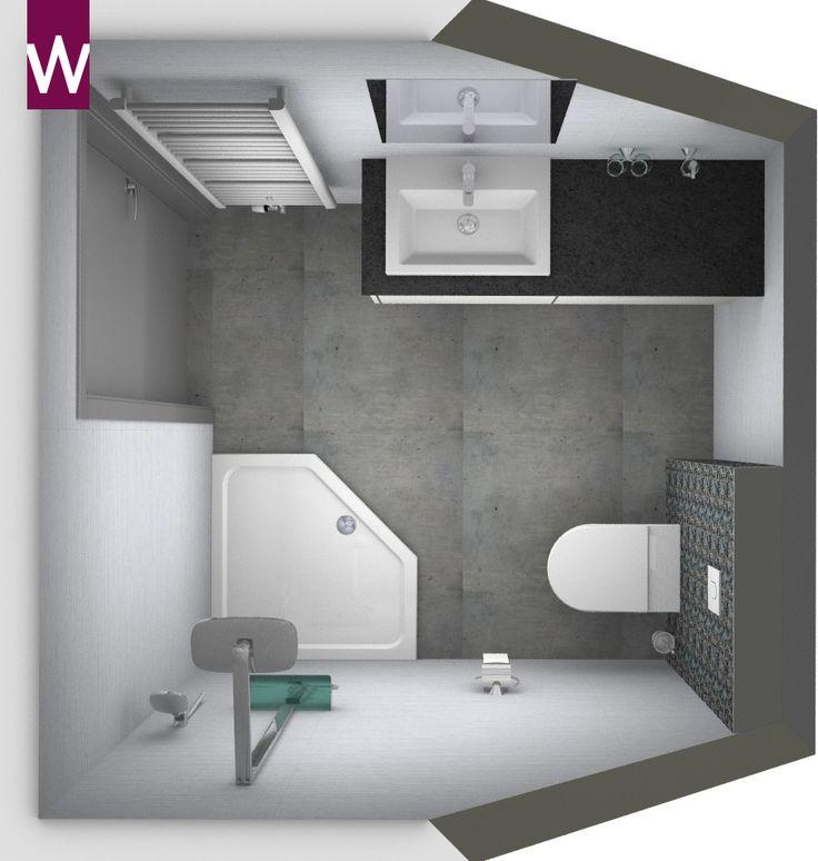 Kleine alles voor en over kleine badkamers home inspiratie pinterest more - Lay outs badkamer ...