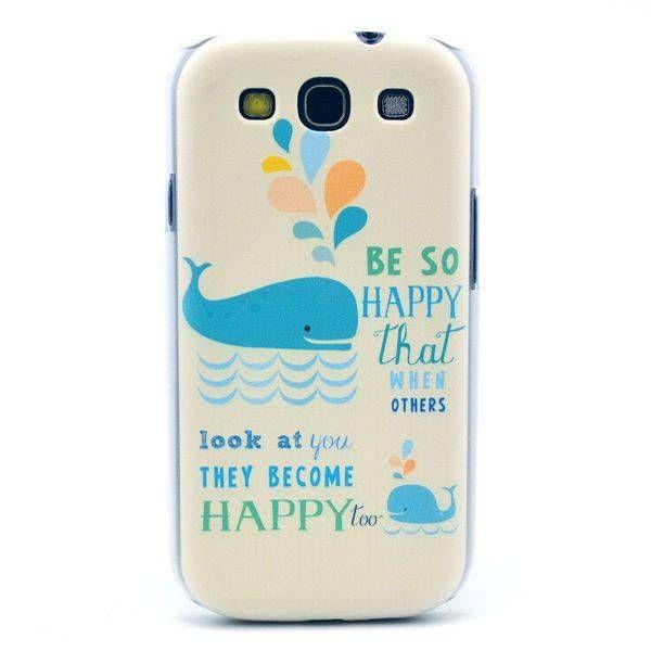 Happy Whale hardcase hoesje voor Samsung Galaxy S3