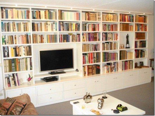 25 beste idee n over ingebouwde boekenkasten op pinterest kantoor aan huis thuisstudie - Eigentijdse boekenkast ...