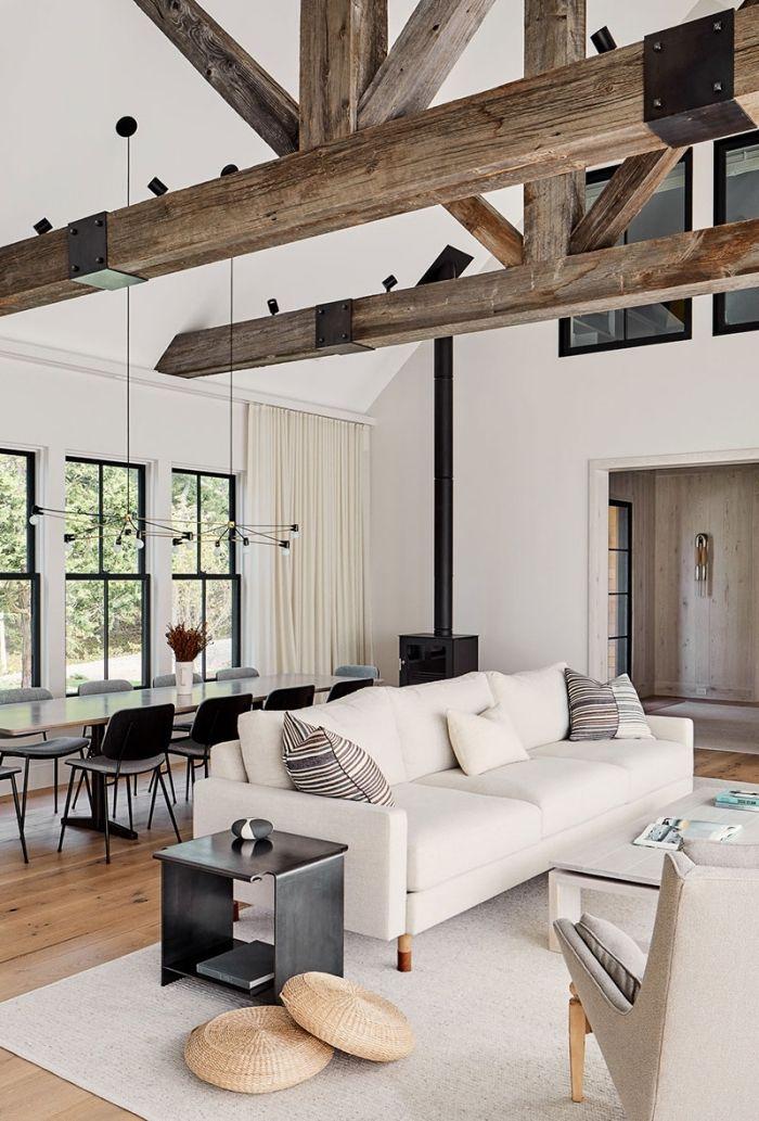 1001 Exemples De Grange Renovee Pour Vous Faire Rever Grange Moderne Maison Contemporaine Deco Maison