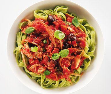 Recept: Tonfisk- och tomatsås
