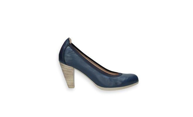 Mooie schoenen op bent.be - Hoge hakken/Hispanitas/blauwe pump met elastiek