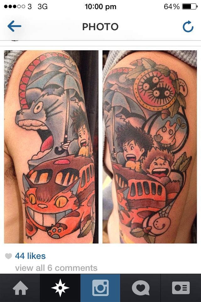 53 best images about TOTORO TATTOOS on Pinterest ...  Totoro