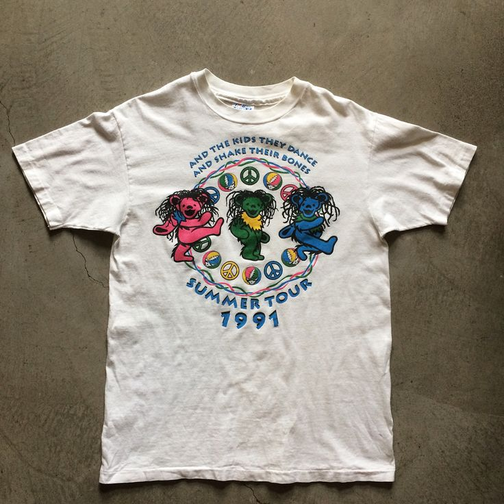 1991 grateful dead summer tour tshirt size l measures 21