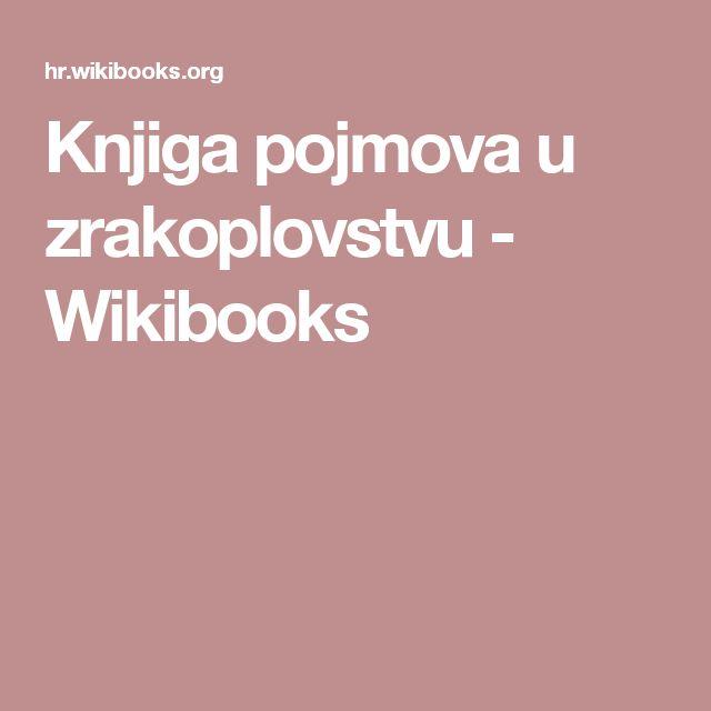 Knjiga pojmova u zrakoplovstvu - Wikibooks