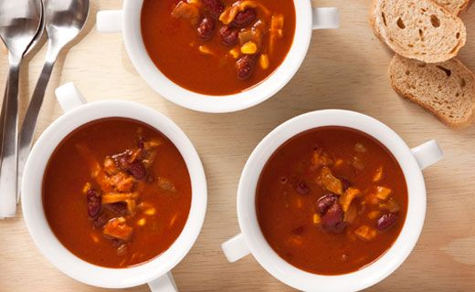 Lunch/Dinner: Epicure's Mexicana Tomato and Corn Soup (200 calories/serving) serve with side salad