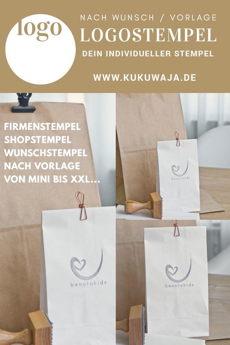 Dein Individueller Stempel Logostempel Shopstempel Firmenstempel Nach Vorlage Nach Wunsch Von Ministempe Logo Stempel Geschenkgutschein Vorlage Vorlagen