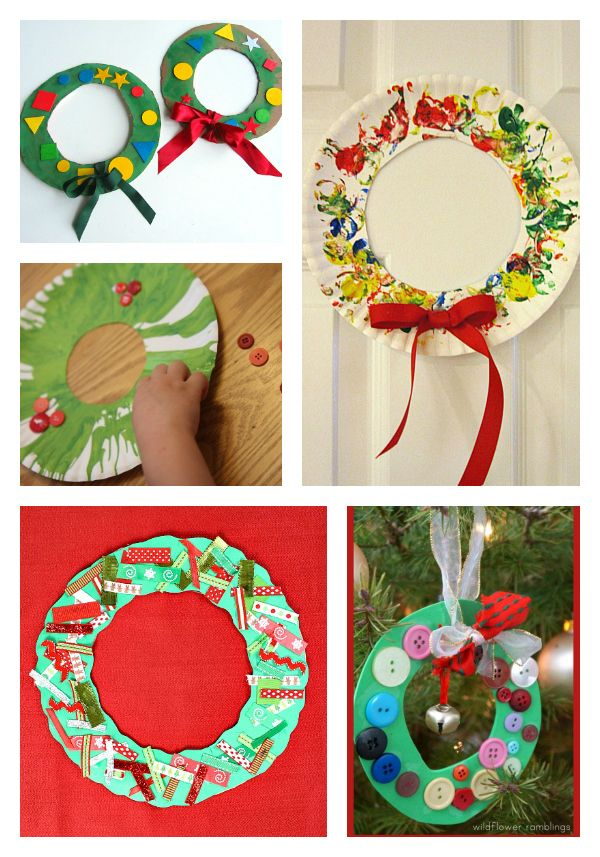 christmas wreath crafts for 3 year olds