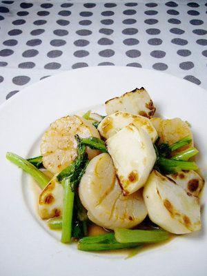 【ELLE a table】焼きかぶと帆立のレモンアンチョビソースレシピ|エル・オンライン