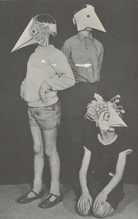 showslow:  Scans from Paper Faces(1968) by Michael Grater  These DIY children's paper face masks are select excerpts from one of the many books created by the very talented Michael Grater, entitled Paper Faces. While many of his photographed examples of masks had certain sinister qualities to them, he somehow managed to portray a simple step-by-step guide which made the seemingly vexing task of creating his masks fun for the children interested in doing so.