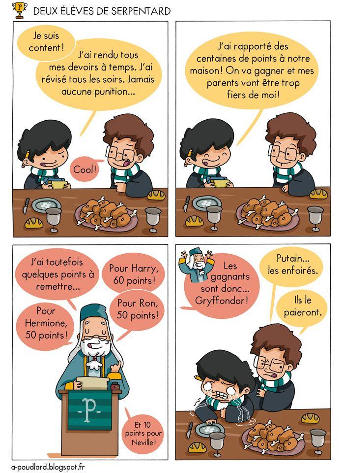 À Poudlard / At Hogwarts - Harry Potter Parody: Deux élèves de Serpentard / Two slytherin students...