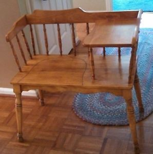 Telephone Table Desk Gossip Bench Maple