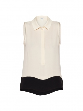 I'm IN LOVE with all of the T.Babaton silk blouses at Aritzia... Anita Sleeveless Blouse