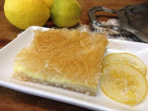 Καταΐφι γλυκό με τυρί κρέμα και άρωμα ανθόνερου