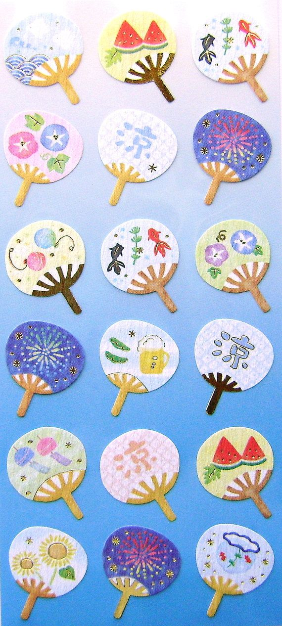 Beautiful Japanese Stickers Summer Japanese by FromJapanWithLove, $6.50