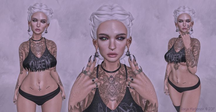 https://flic.kr/p/U5Bgcr | Look Nº 633 | Body.- *Mesh head - CATWA HEAD Kimberly *Skin applier -  *YS&YS* Bambi Tone 02 Skin Applier  for Catwa Heads *Mesh eyes - Nightmare :: RobotEyes Set (Thanks Crumbelina) *Mesh hair - [NYNE] 'Barcelona' Hair  (Thanks Nyuu) *Ears - ^^Swallow^^ Drop Ears *Tattoo - .Absence. Surface Tattoo Appliers Omega/Maitreya/Belleza/Slink (Thanks Elizabeth gaelyth)   Clothes and accessories.- *Top - Nightmare :: Ruined Tank (Freya, Isis, Maitreya, Physique, Venus. 20