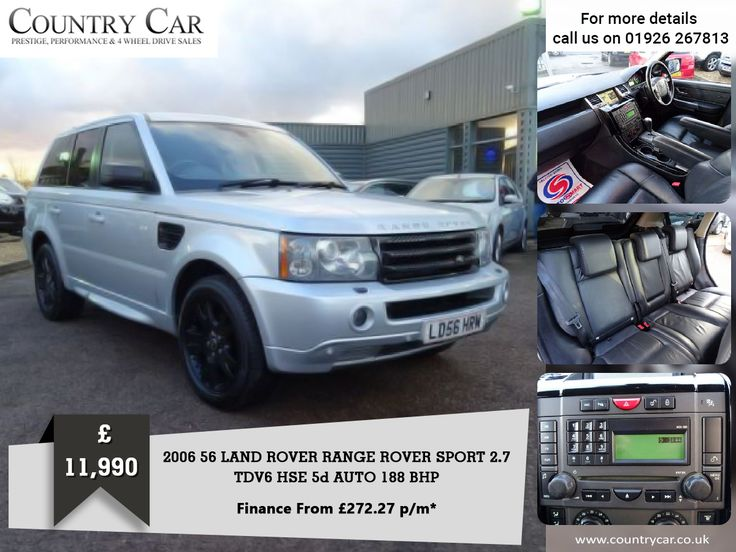 £11,990 | 2006 56 LAND ROVER RANGE ROVER SPORT 2.7 TDV6 HSE 5d AUTO 188 BHP. Finance From £272.27 p/m* Call Us: 07441 906677  #countrycar #customerservice #landrover #rangerover #rangeroverevoque #rangerovergoals #landroverdiscovery #cars #LandroverFreelander #dealership #deals #porsche #carsales #landroverphotos #landroverowners