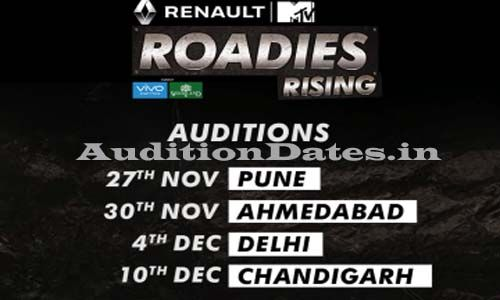MTV Roadies Rising X5 2016-17 Audition Date & Venue Details
