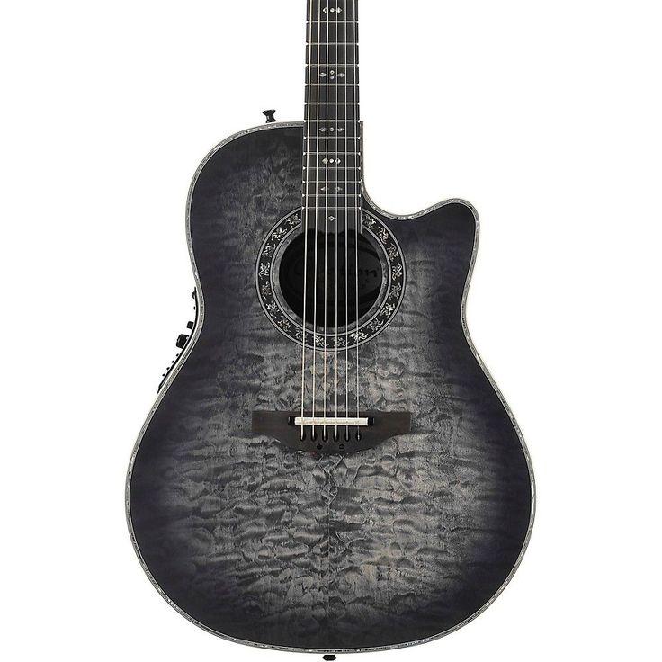 Ovation C2079AXP-5S Exotic Wood Legend Plus Quilted Maple Acoustic-Electric Guitar Black Burst