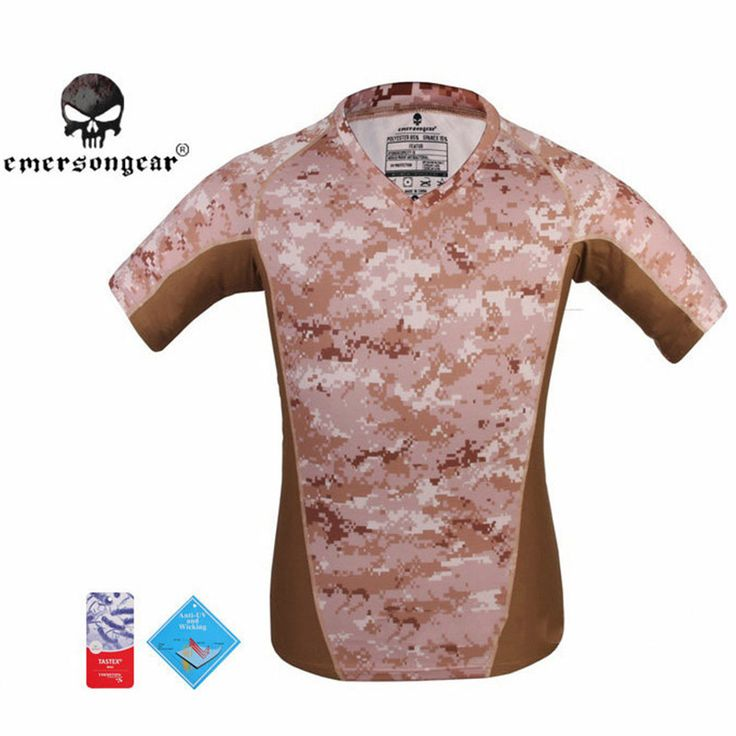 EMERSON Skin Tight Base Layer Camo Running T-shirt Breathable Perspiration Shirt Men's Quick-Dry Hunting Combat Camping Vest