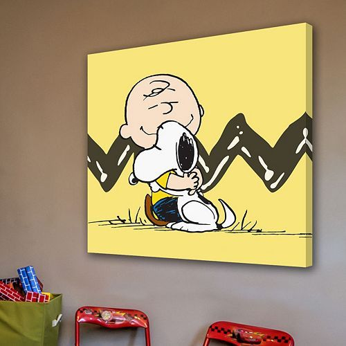 Marmont Hill Peanuts Charlie Brown Snoopy Canvas Wall Art