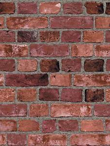 Red Brick Wallpaper Embossed Textured Bricks SR026180 SF084793 | eBay