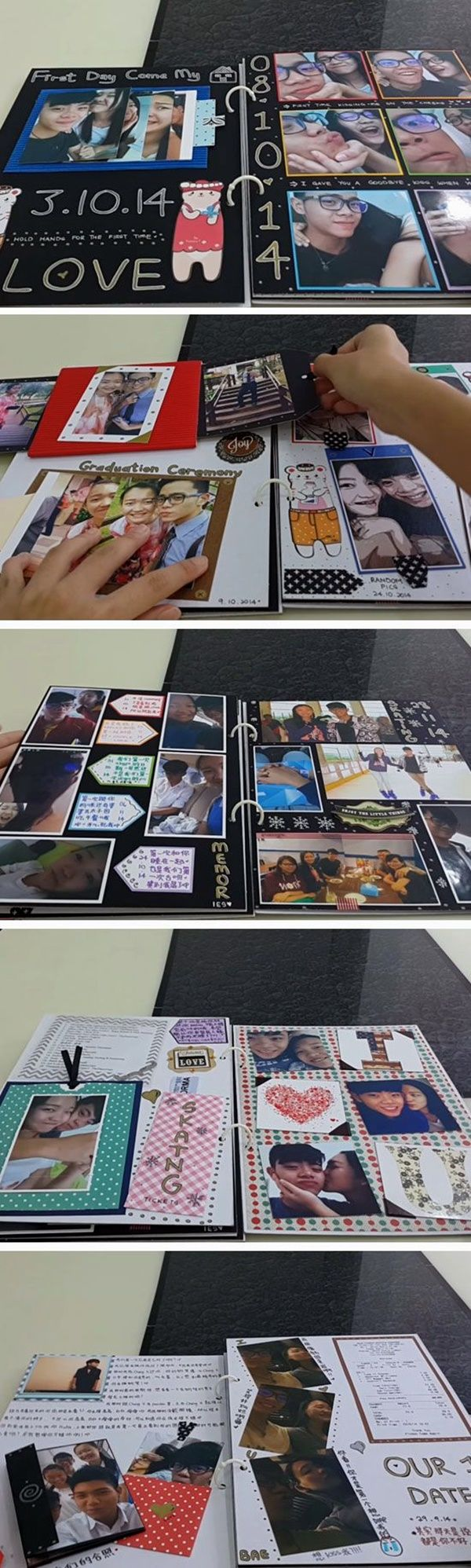NOTHING CAN MATCH THE CHARM OF COLLAGE BOOK <3 Homemade Valentines Day Ideas for Him <3 60 Homemade Valentines Day Ideas for Him that're really CUTE ||| Fenzyme.com |||