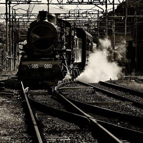 Locomotiva a vapore 685.089 in arrivo alla stazione di Pistoia. Potenza 1250 CV, velocita' 120 Km/h. Costruite tra il 1912 e il 1923 in diverse serie, la 685 e' ritenuta la regina delle locomotive a vapore italiane per treni viaggiatori . Costruite in 241 esemplari, hanno caratterizzato l'epoca della grande trazione a vapore ed hanno prestato servizio fino al 1975.