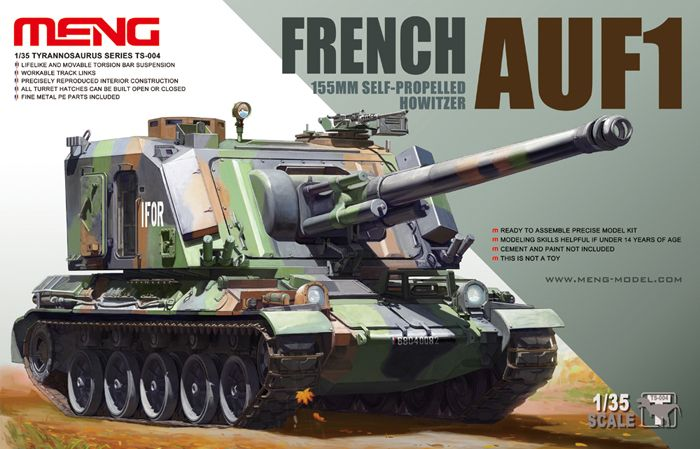 Kit réf AUF1 from Meng about the French AUF1 155mm Self-propelled Howitzer