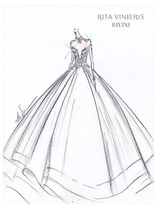 Wedding Dress Line Drawing : Bella wedding dress sketches and