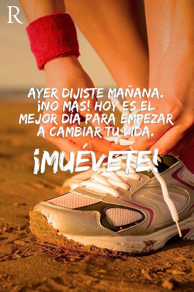 ¡#NoMas!, ayer dijiste mañana, así que hoy es el mejor día para empezar a cambiar tu vida. #VibraFitness #EstiloSaludable #FraseDeLaSemana. Imagen víahttp://goo.gl/ycKeVT