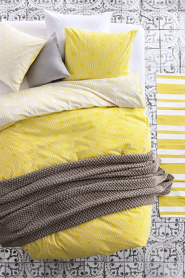 Lighten up your bedroom with sunny hues. H&M #HMHome