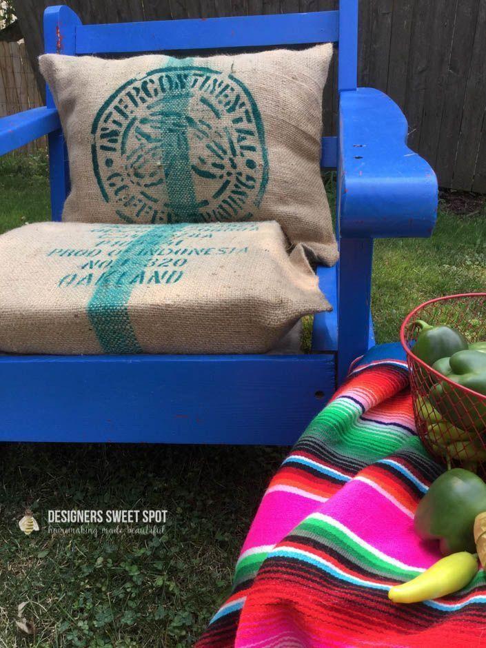 How to Sew a Coffee Bean Bag Pillow|Designers Sweet Spot|www.designerssweetspot.com